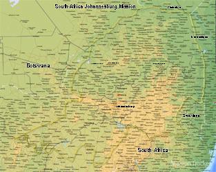 South Africa Johannesburg Mission LARGE (11X14) Digital Download Only