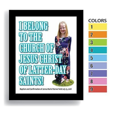 """I Belong"" Girl—Customized Baptism Keepsake DIGITAL DOWNLOAD ONLY (Shown framed)"