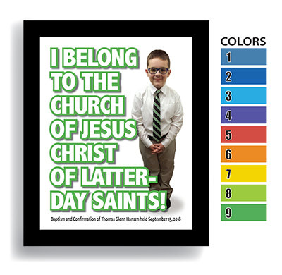 """""""I Belong"""" Boy—Customized Baptism Keepsake DIGITAL DOWNLOAD ONLY (Shown framed)"""