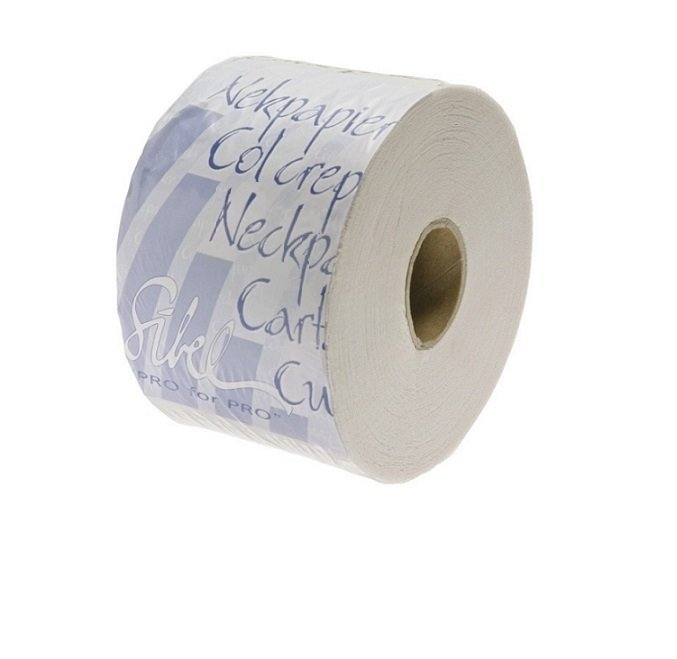SIBEL Бумага под воротничок с синей липучкой (100 шт/рулон)