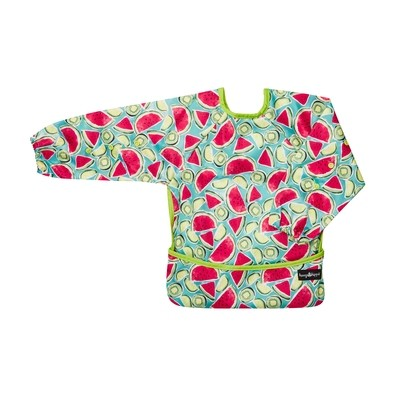 HungrHippo 2-in-1 Bib and Apron in Kiwi