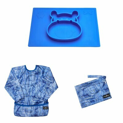 Weaning and Messy Play Bundle in Blue