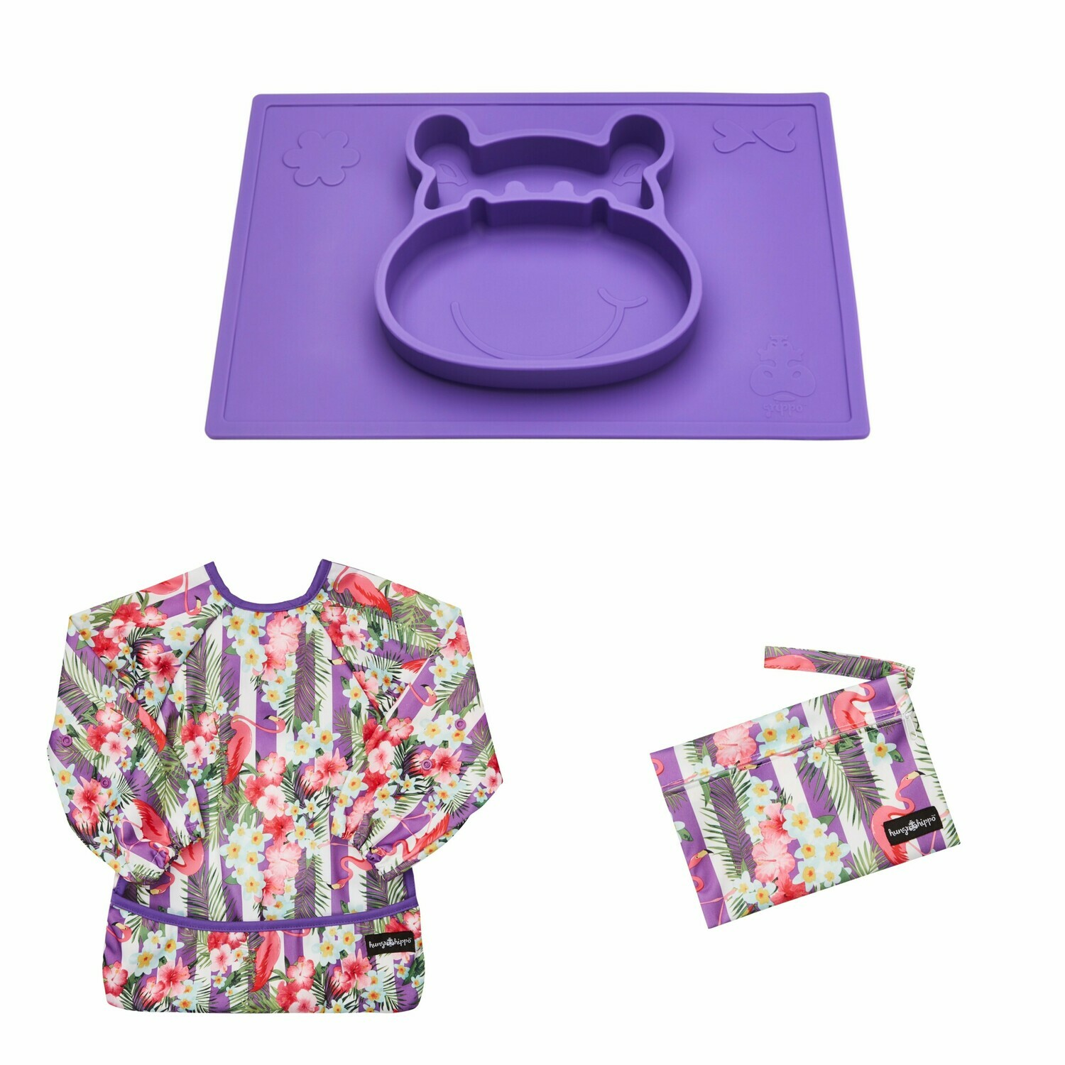 Weaning and Messy Play Bundle in Plum