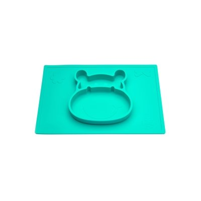 Grippo 2-in-1 Silicone Placemat and Plate in Kiwi