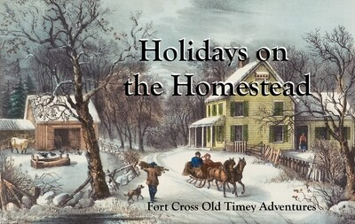 December 2 Holidays on the Homestead field trip event