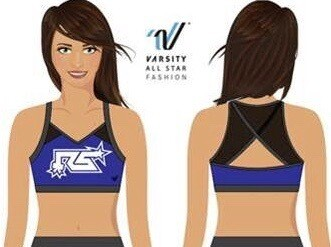 2020-2021 Rock Solid Logo Only Sports Bra