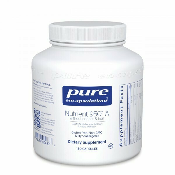 Nutrient 950® A without copper & iron 180's