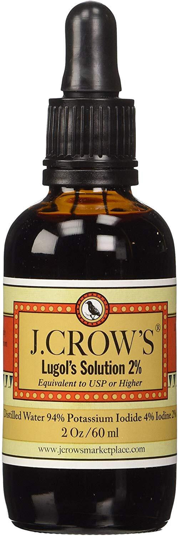 J Crow's Lugol's Iodine Solution, 2 oz.
