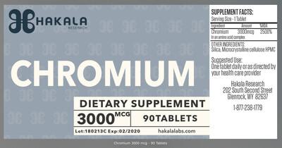 Chromium 3000 mcg