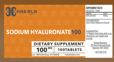 Sodium Hyaluronate 100 mg - 100 Tablets