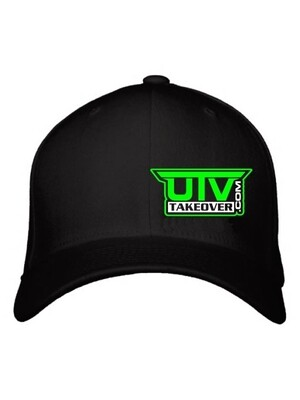 2020 - Hat - Flex Fit (BLACK WITH GREEN LOGO)