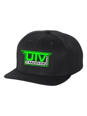 2020 - Hat - Flat Bill (BLACK WITH GREEN LOGO)