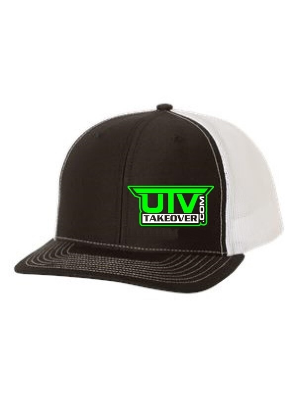 2020 - Hat - Trucker (BLACK AND WHITE WITH GREEN LOGO)