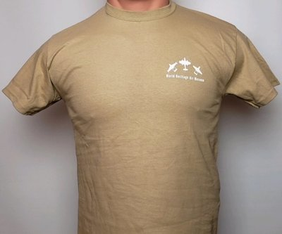 T-SHIRT - WORLD HERITAGE AIR MUSEUM / BRITISH INVASION - TAN