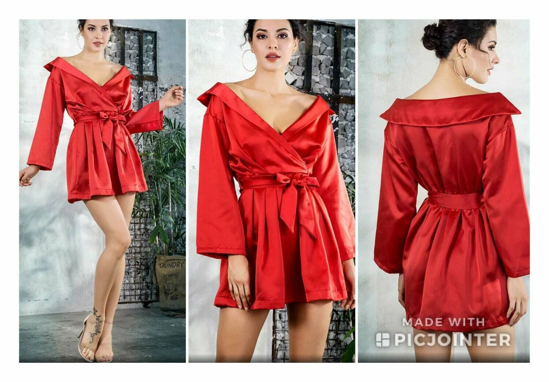 Red Off the Shoulder Fashion Dress