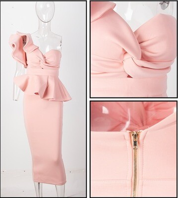 Pink Scuba Two Piece