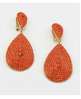 Orange tear drop dangle