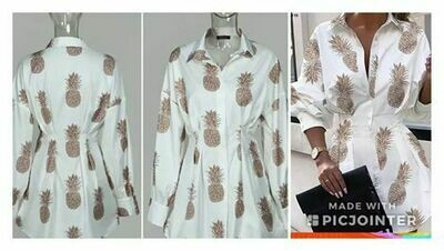 Pineapple shirt dress
