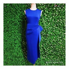 Royal blue scuba dress