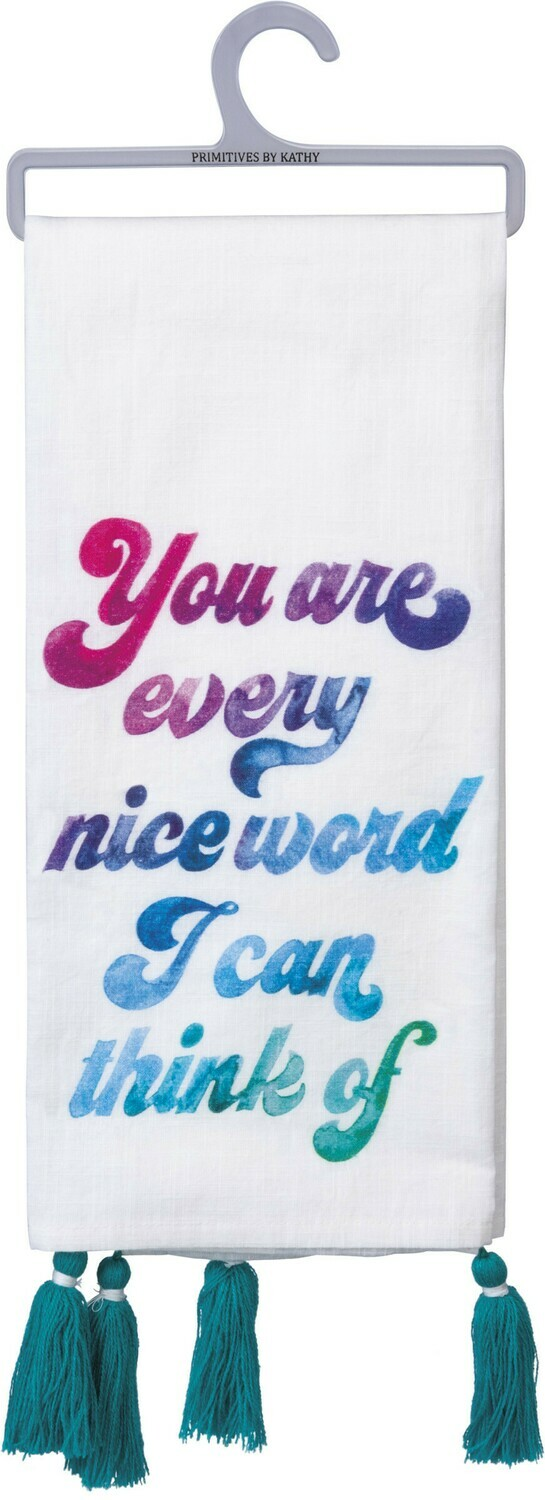 Dish Towel -Nice Word