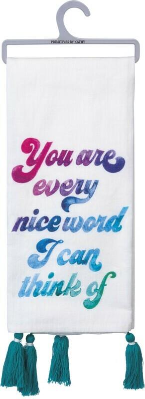 Dish Towel -Nice Word