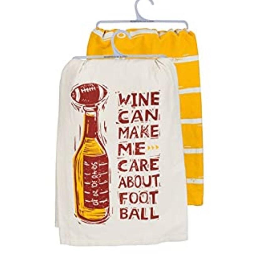 Dish Towel -Wine and Football
