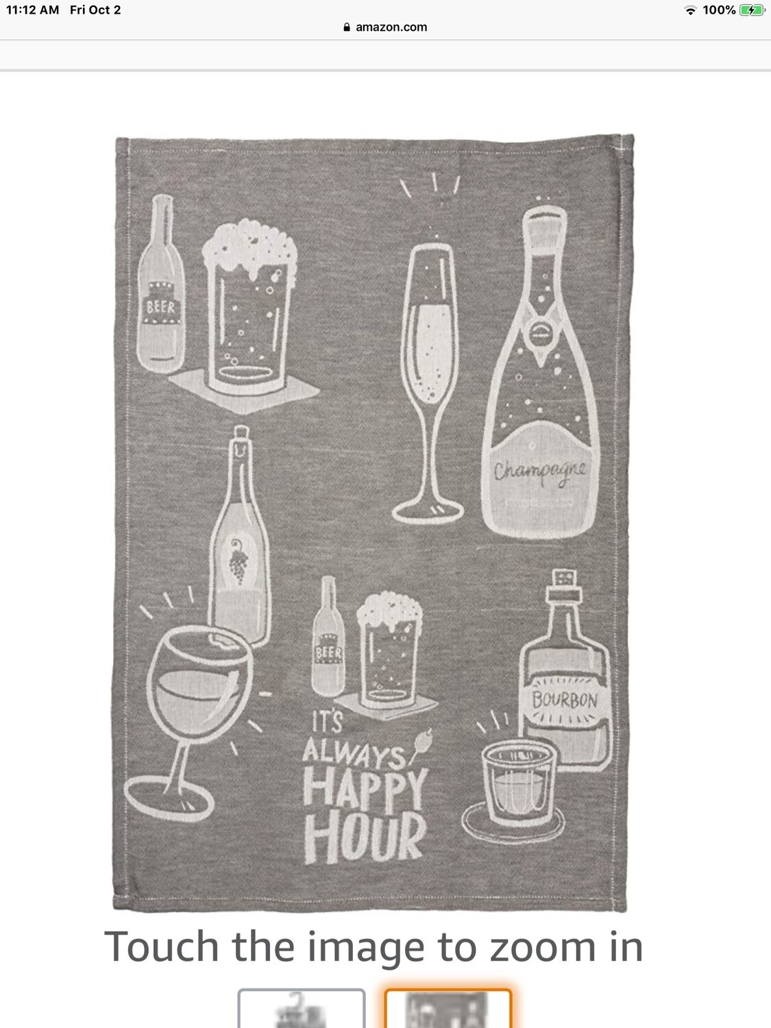 Dish Towel -Happy Hour