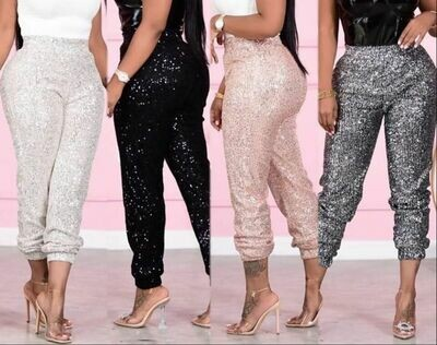 Gray Sparkly pants