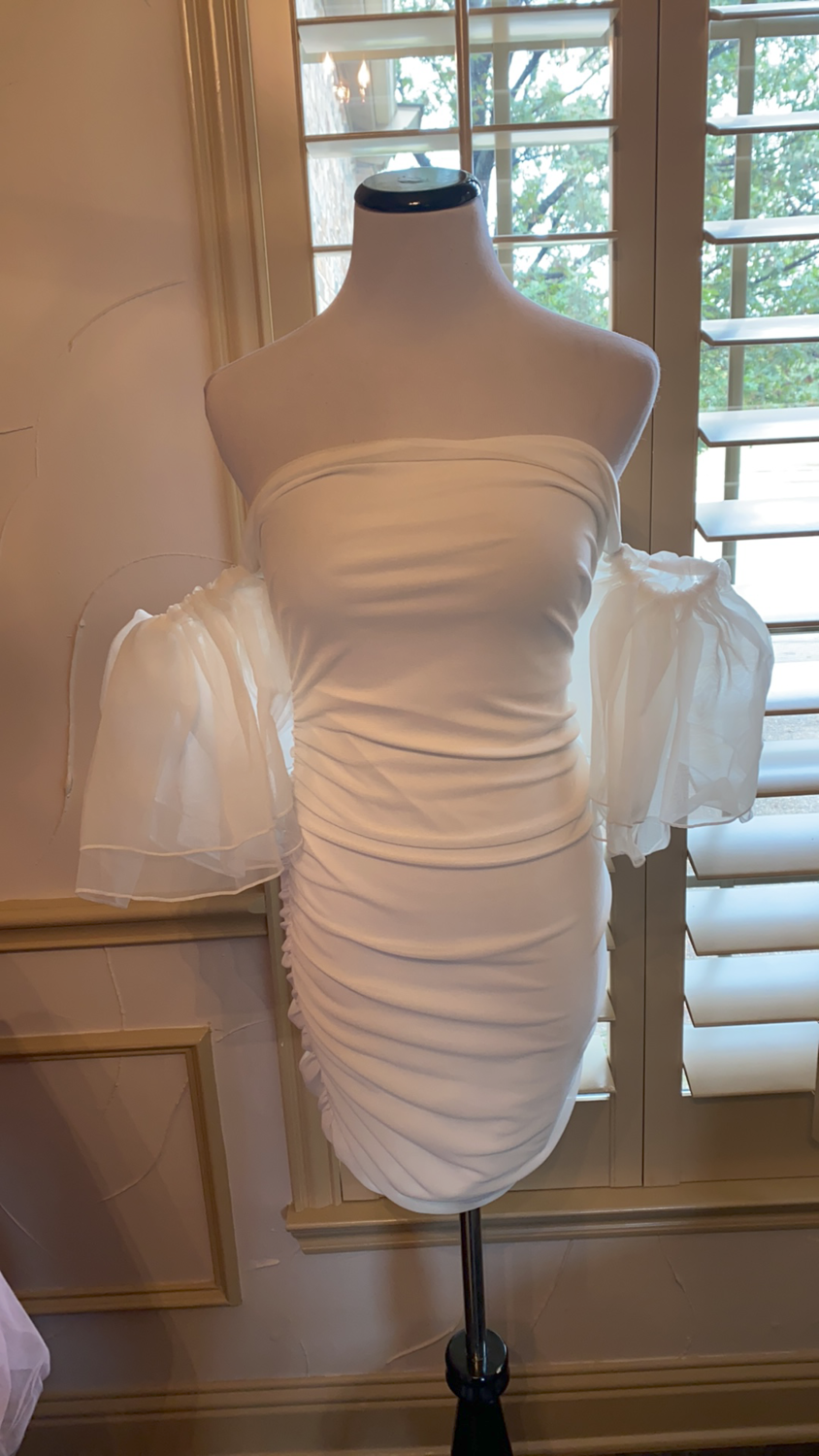 ONLY ONE White off shoulder dress