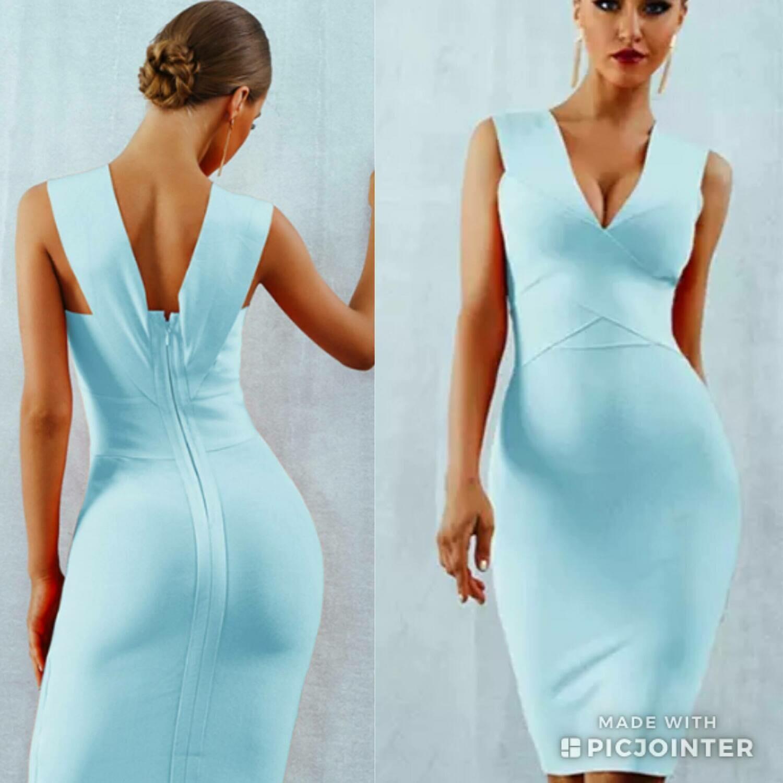 Icy blue bandage dress