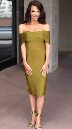 ONLY ONE olive bandage dress