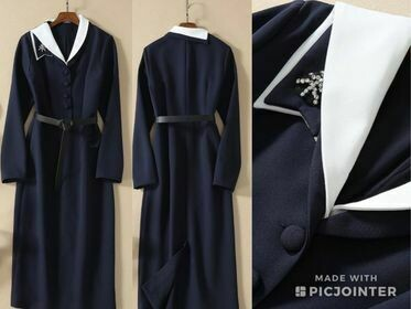 ONLY ONE Navy dress