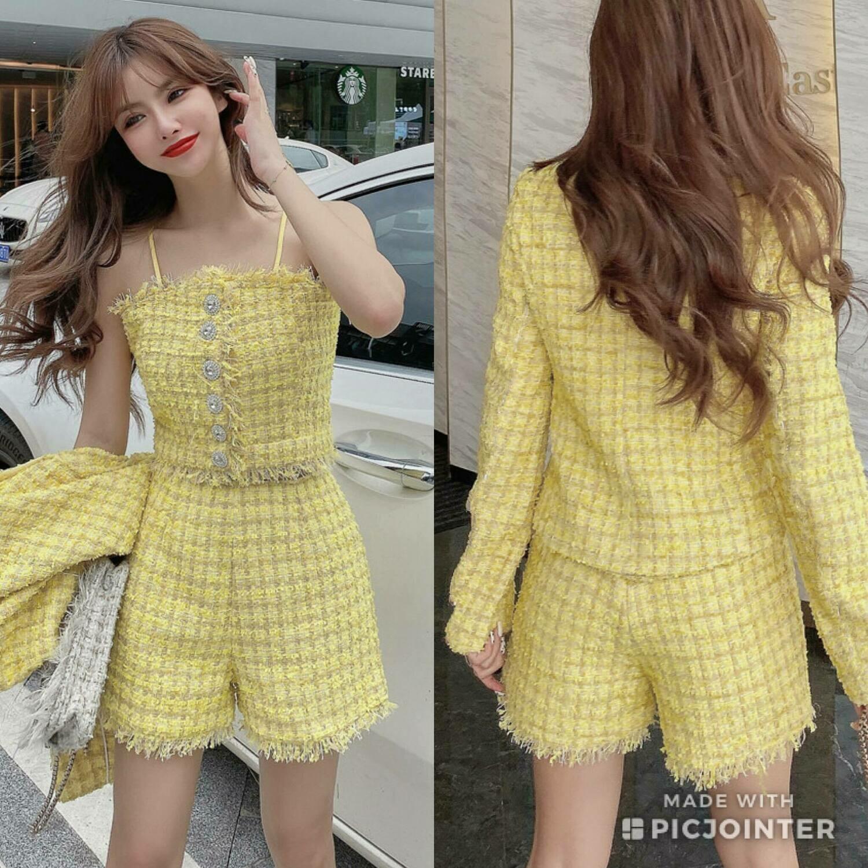 Yellow Tweed 3-piece set