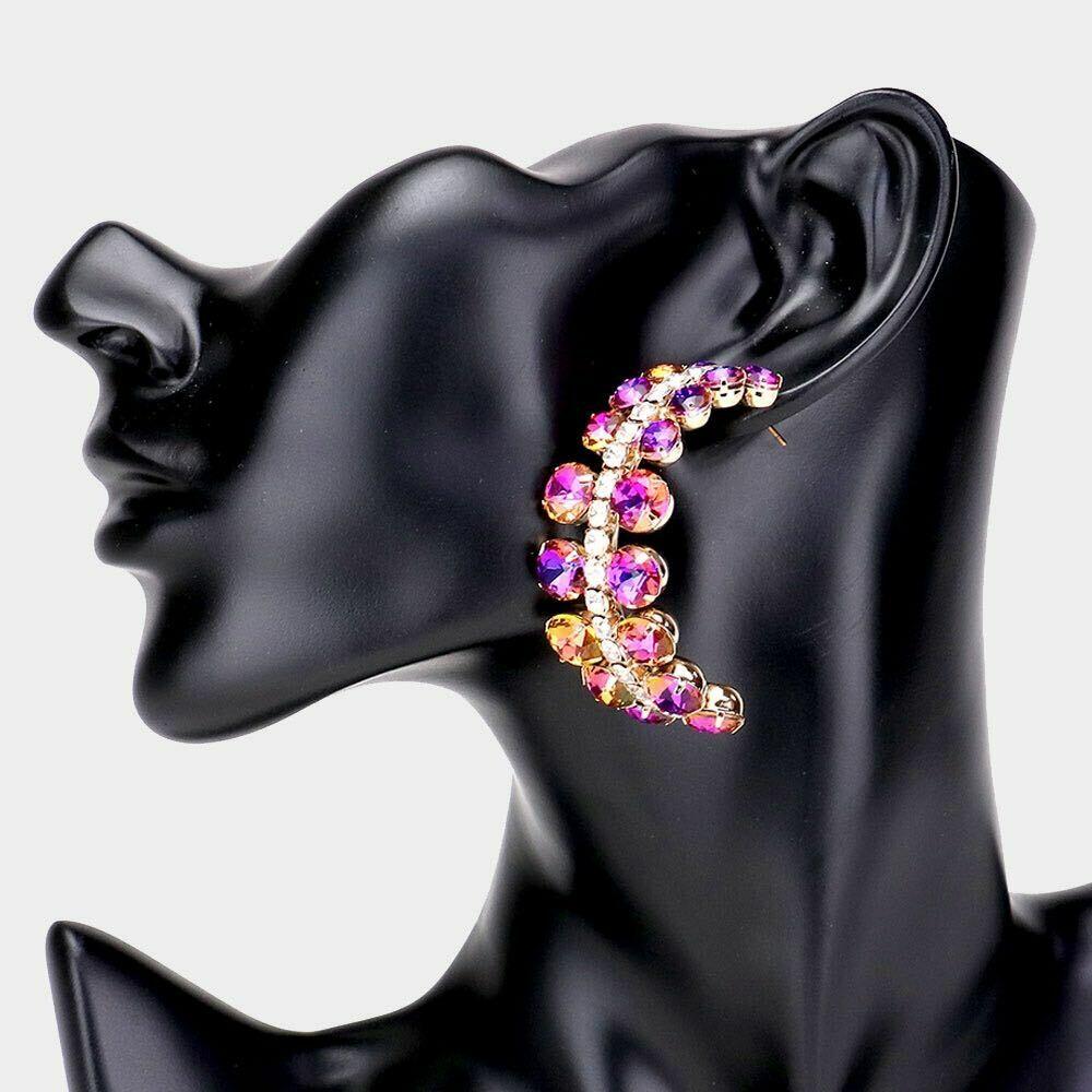 Pink Evening Earrings