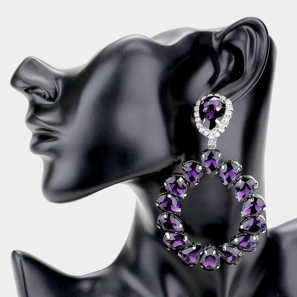 Amethyst  Evening Earrings