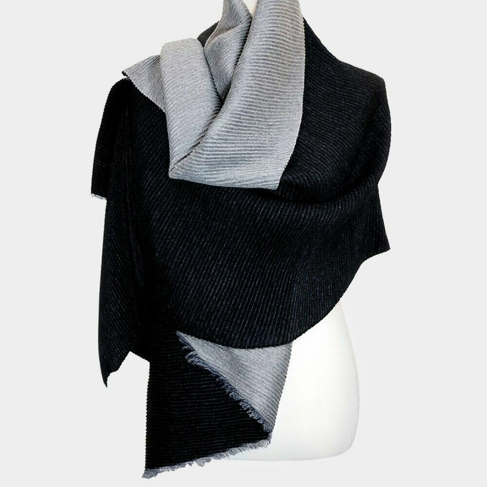 Grey and black scarf