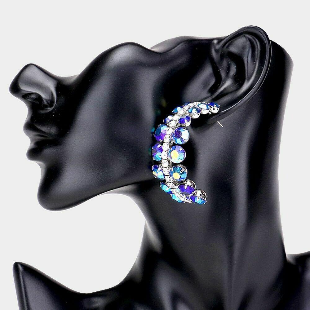 Blue Evening Earrings