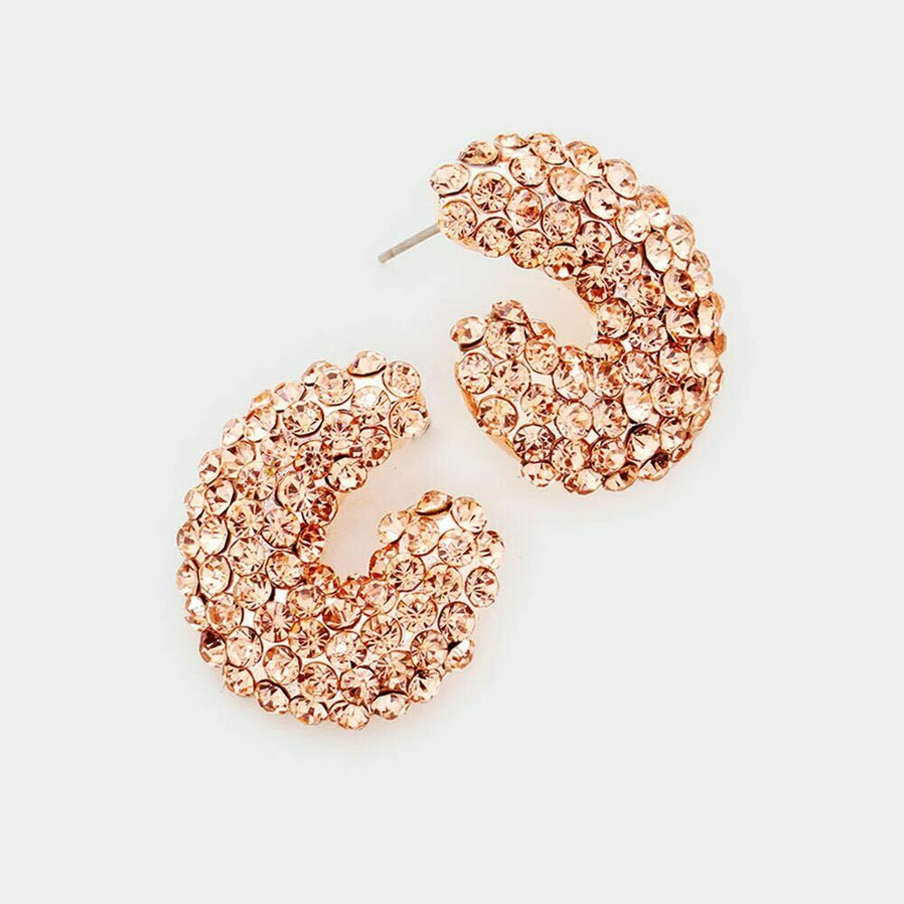 Rose Gold evening stud