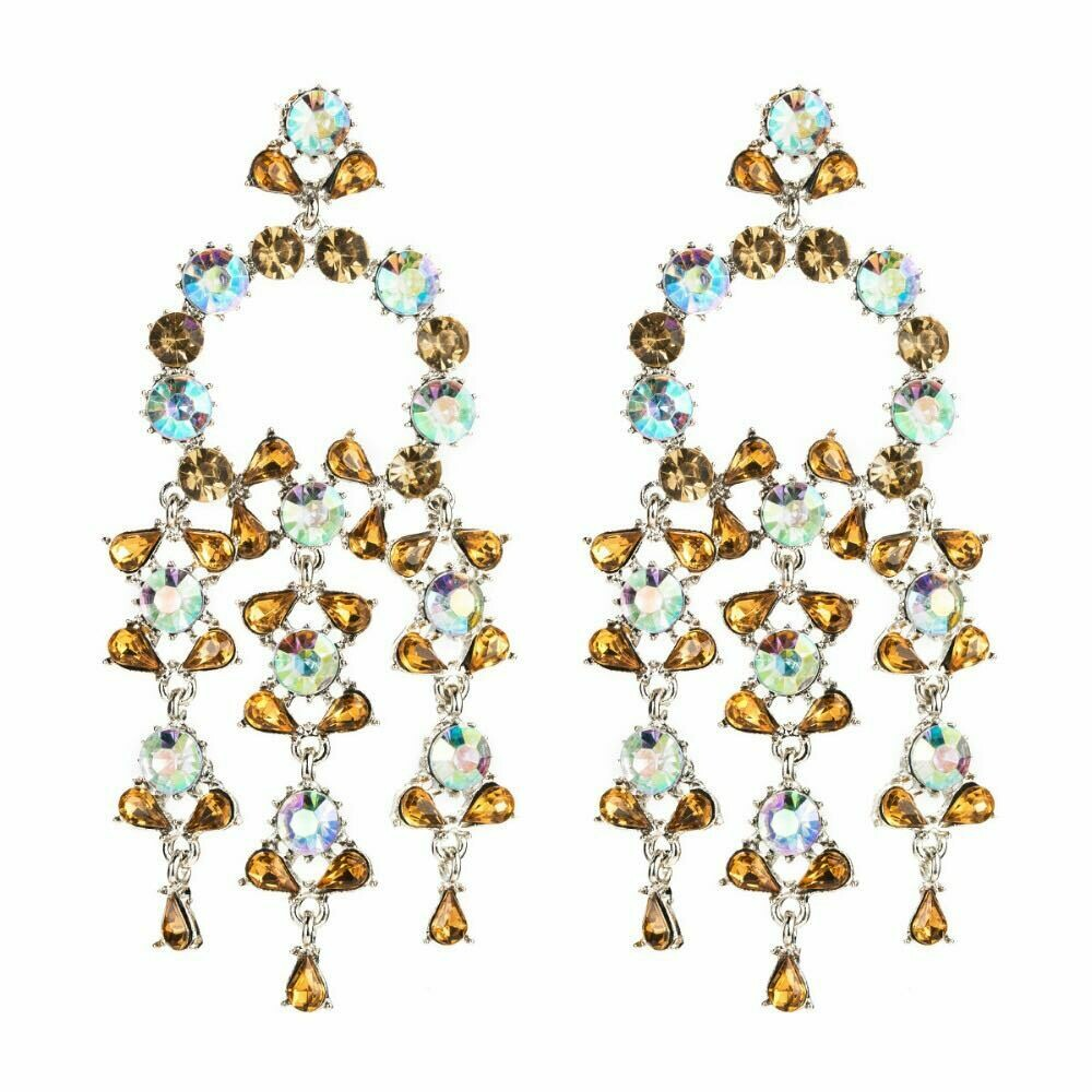 amber and Ab earring