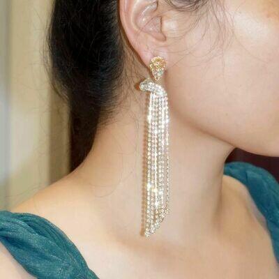 Lion fringe earring