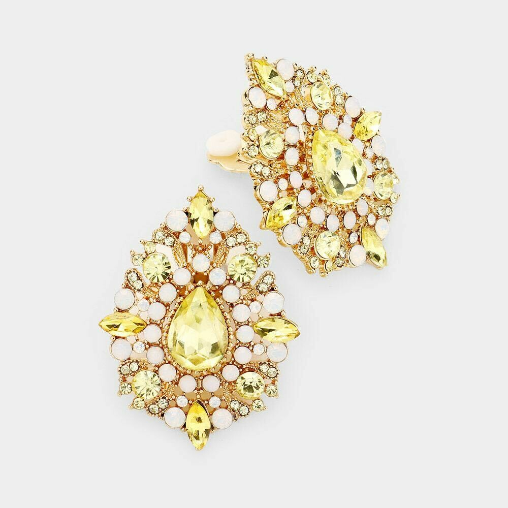 yellow and white earring