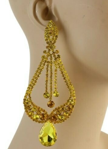 yellow pageant earring
