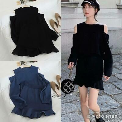 sweater 2-piece skirt set