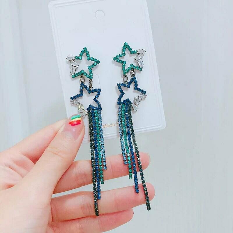 blue star earring