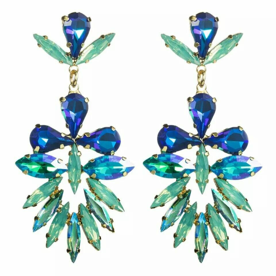 blue and turquoise earring
