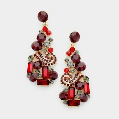 red and gold earring