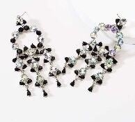 black and AB earring