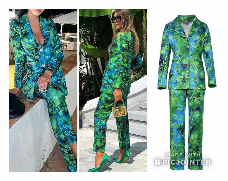Tropical pant suit