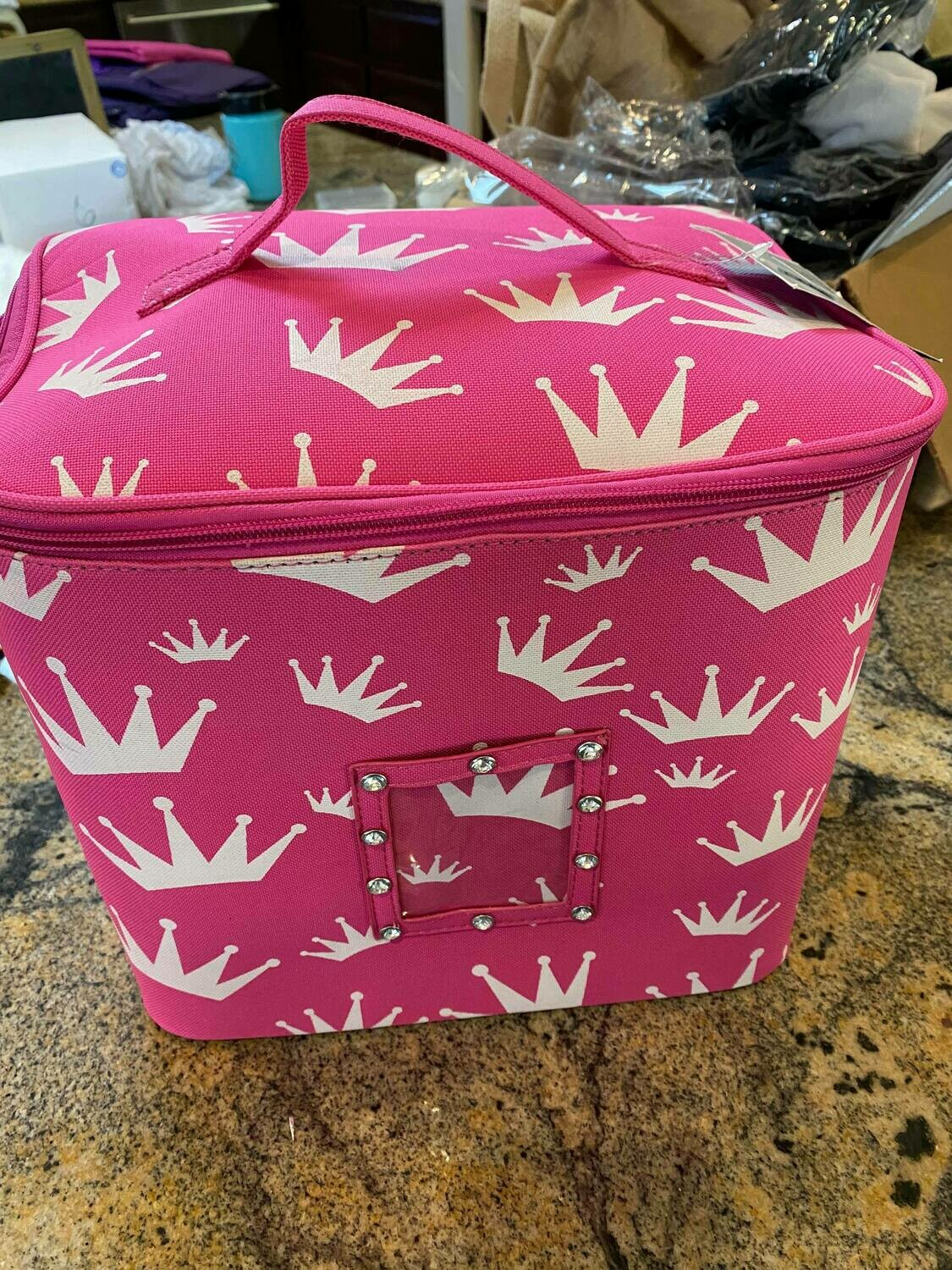pink crown make up bag ONLY ONE