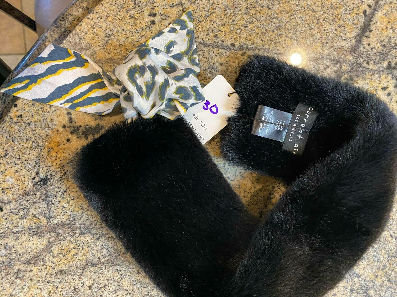 black fur muff (2 left)